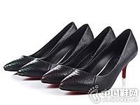 丹露精品女鞋2016新款高跟单鞋