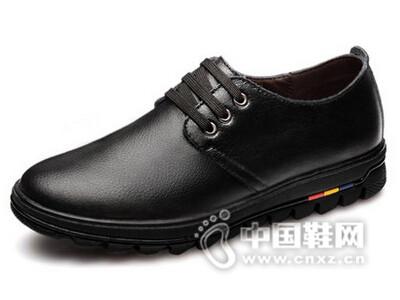 绅诺2016真皮男士英伦商务休闲鞋皮鞋