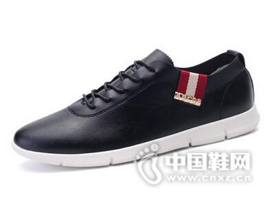 绅诺2016休闲皮鞋时尚英伦风青年休闲男鞋