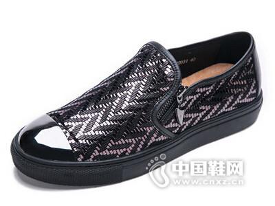 米先生2016磨砂皮真皮潮流韩版板鞋