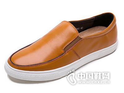 米先生2016真皮英伦时尚套脚休闲皮鞋