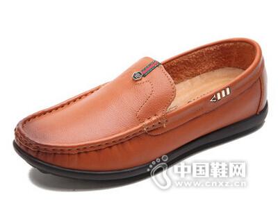 米先生2016头层牛皮真皮商务休闲鞋