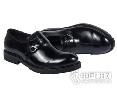 拉巴奴2016英伦时尚男士真皮圆头透气套脚皮鞋潮