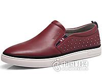 YUTUBOY2016真皮一脚蹬青年潮板鞋