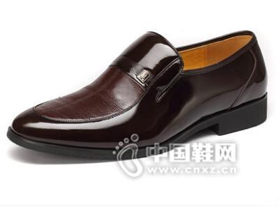 老人头2016真皮时尚流行正装皮鞋