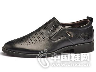 阿莱克顿2016商务正装打孔透气舒适皮鞋