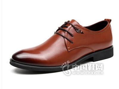 皮王狮丹2016系带简约商务正装牛皮透气皮鞋