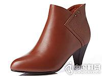富贵鸟男女皮鞋2016秋冬新款短靴