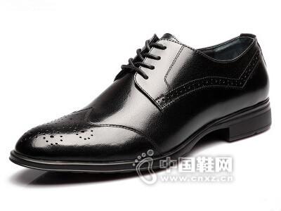 查理2016英伦尖头时尚透气耐磨皮鞋