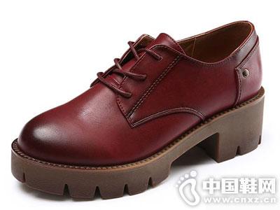 卓诗尼女鞋2016秋季新款休闲单鞋