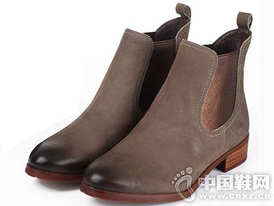 Bata/拔佳皮鞋2016新款女休闲短靴