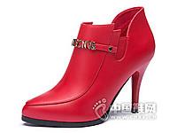 香香莉2016细跟尖头防水台女鞋