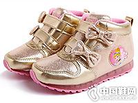 迪迪士尼童鞋2016秋冬新款女童中�托蓍e鞋