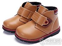 迪士尼童鞋2016秋冬新款男童中帮皮鞋
