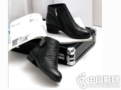 名郎休闲鞋2016秋冬新款女中跟短靴