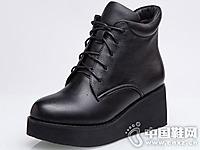 菲英女鞋2016秋冬厚跟短靴新款