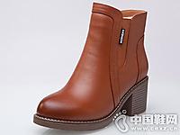 菲英女鞋2016秋冬粗跟短靴新款