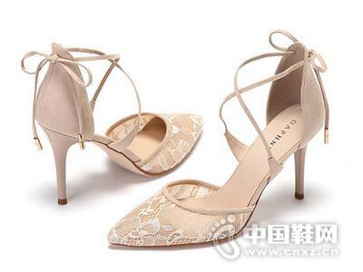 Daphne/达芙妮2017优雅性感蕾丝细高跟鞋