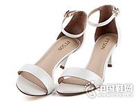百田森2017韩版夏天一字扣带女鞋