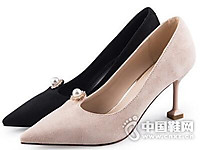 依思q2017秋个性酒杯跟百搭细高跟女鞋