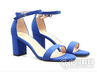 fed2017春夏休闲韩版方高跟女鞋