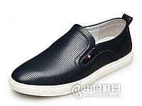 康奈2017休闲乐福皮鞋男