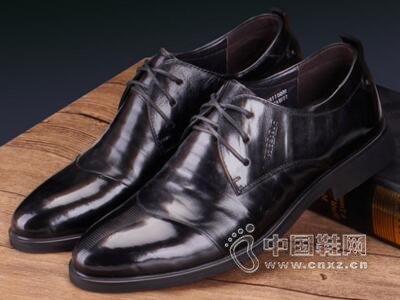 保罗盖帝2017男士商务正装皮鞋