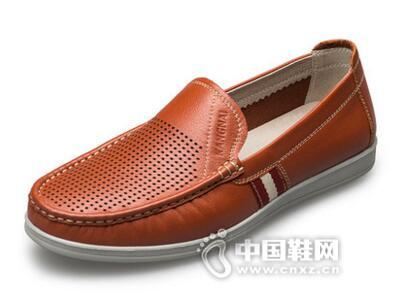 康奈2017透气镂空冲孔鞋