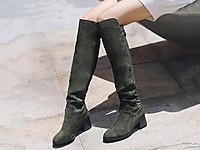 百丽2017冬长靴绒面高筒靴