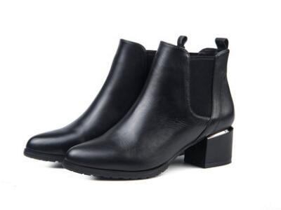 星期六2017冬短靴切尔西靴女鞋