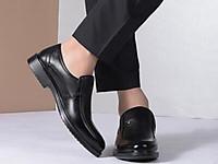 富贵鸟2017冬男士皮鞋真皮套脚鞋
