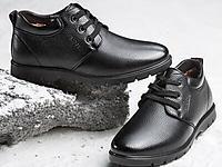 意尔康2017冬真皮舒适商务休闲皮鞋