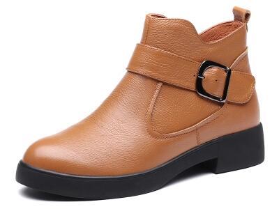 红蜻蜓2017冬休闲时尚低筒女靴
