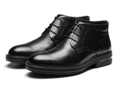 森达2017冬时尚大方低跟男低靴