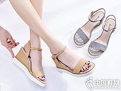 2018年卓诗尼新款中跟凉鞋