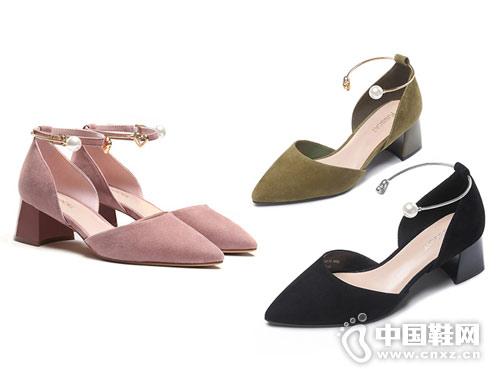 2018接吻猫时尚女鞋中空时装鞋新款产品