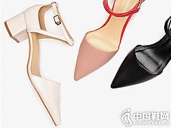2018白领丽人女鞋一字带后包跟凉鞋新款