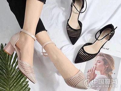 欧维思女鞋2018后空单鞋新款