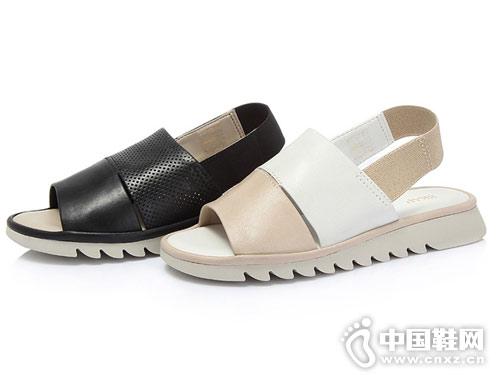 圣伽步男女鞋2018新款女休闲凉鞋