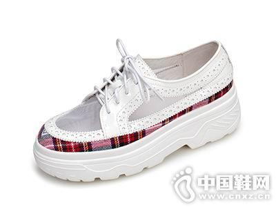 2018欧罗巴女鞋新款坡跟单鞋
