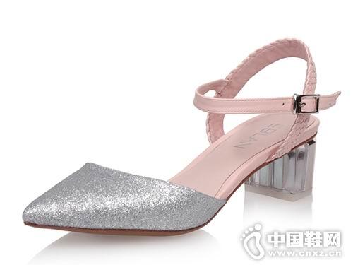 伊伴女鞋2018新款后空单鞋
