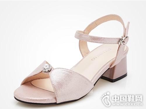 富贵鸟男女皮鞋2018新款女凉鞋