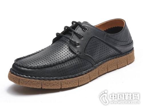 富贵鸟男女皮鞋2018新款男休闲皮鞋
