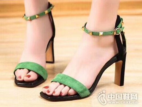 丹路姿女鞋2018新款高跟凉鞋