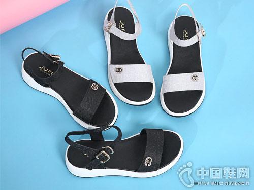 巨日女鞋2018春季新款休闲凉鞋