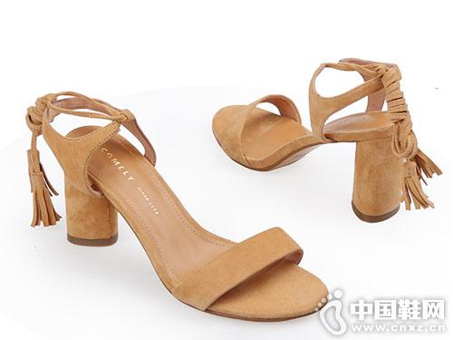 康莉Comrade女鞋2018新款粗跟凉鞋