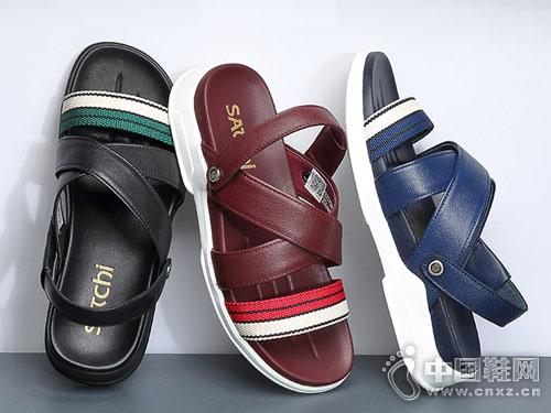 沙驰男鞋2018新款凉鞋产品