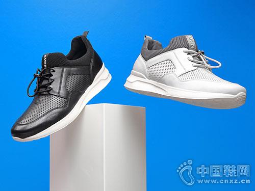 沙驰男鞋2018新款休闲运动鞋