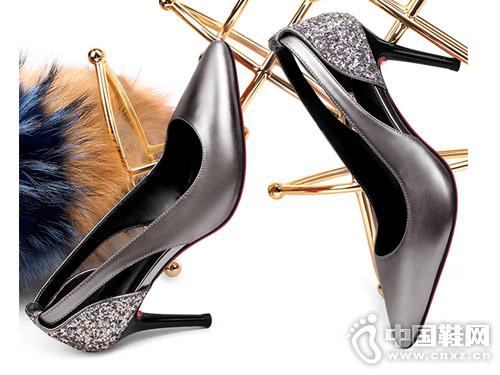 贵之步时尚女鞋2018时装单鞋新款