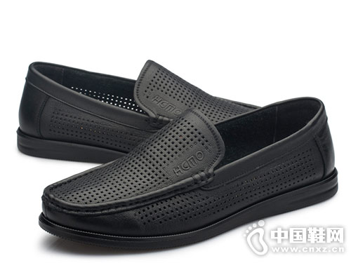 红草帽男女皮鞋2018豆豆鞋